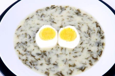 šťavelový prívarok s vajíčkom