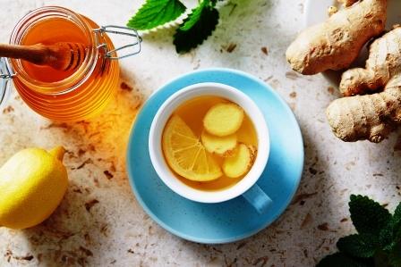 Citron a zazvorovy caj s medom