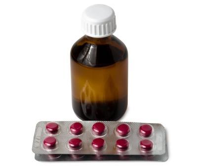 Fľaša extraktu Sibírsky ženšen a blister s pilulky