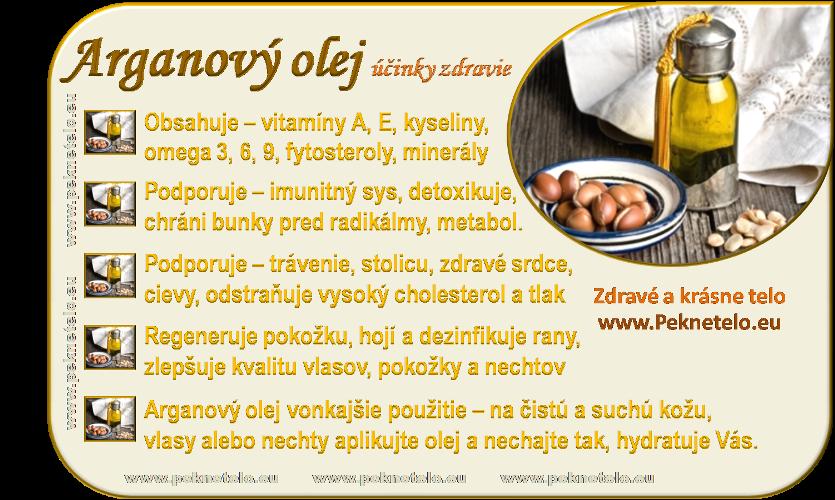 Info arganový olej