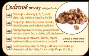 Info cedrove orechy