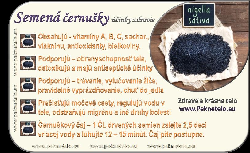 Info obrázok černuškové semená