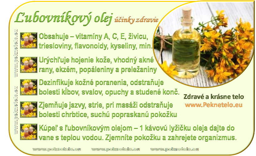 Info obrázok ľubovníkový olej