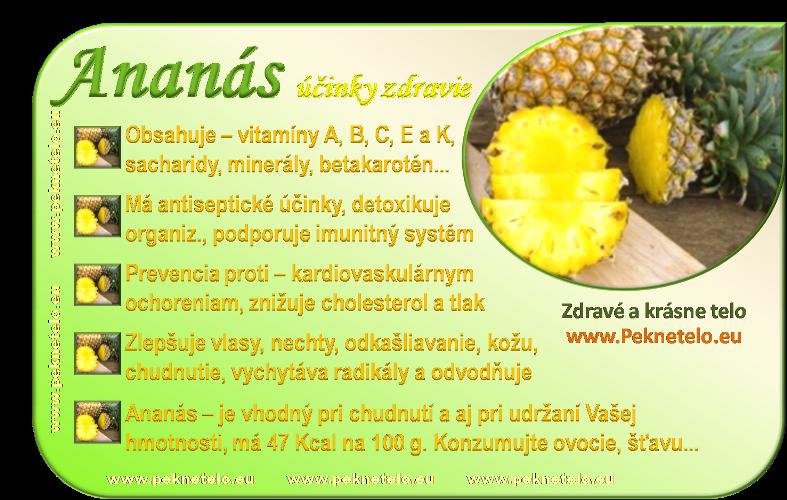 Info obrázok ananás