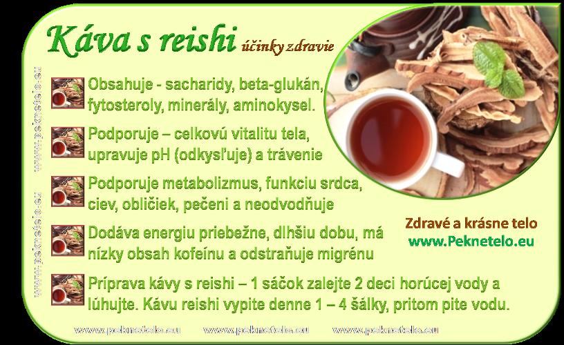 Info obrázok kávy reishi