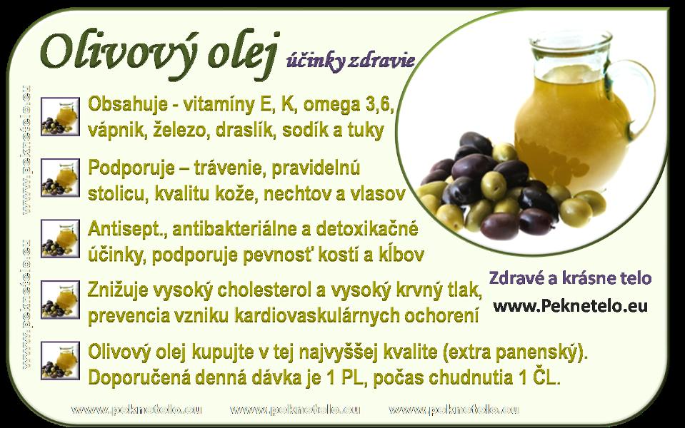 Info obrázok olivový olej