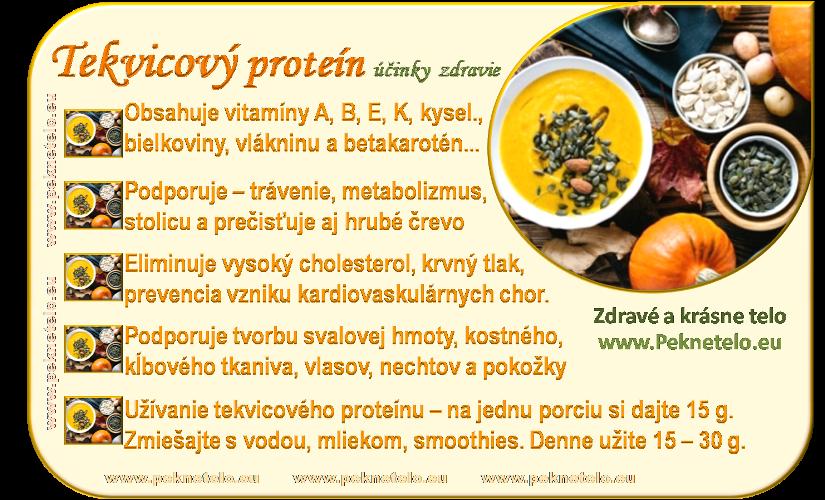 Info obrázok tekvicový proteín