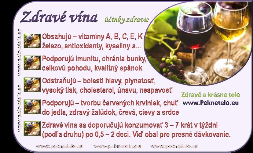 Info obrázok zdravé vína