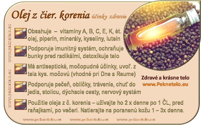 Info obrazok olej z cierneho korenia