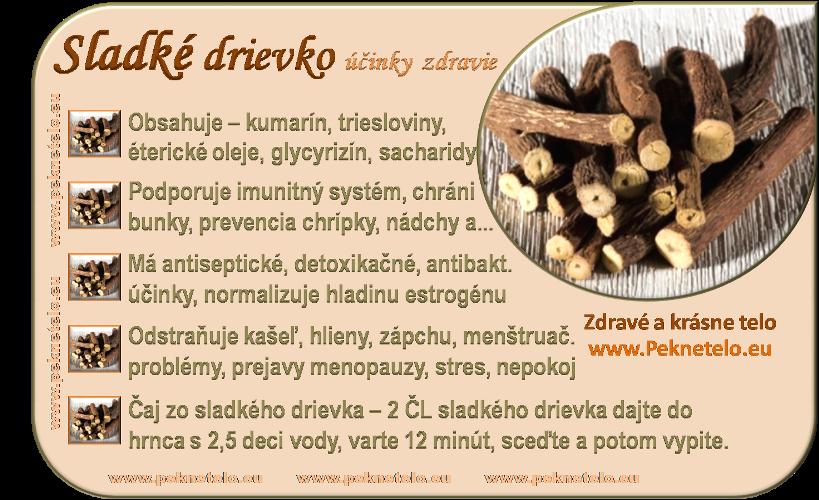 Info sladké drievko