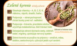 Info zelene korenie