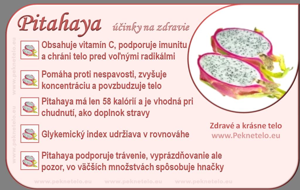 Pitahaya - účinky na zdravie a chudnutie