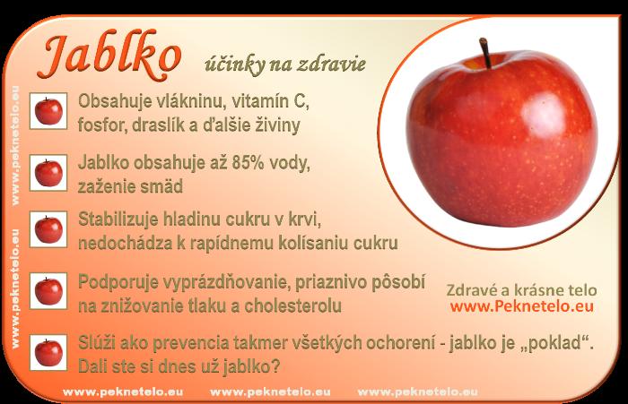 Jablko - účinky na zdravie a chudnutie