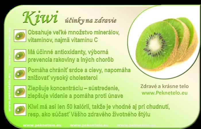 Kiwi - účinky na zdravie a chudnutie