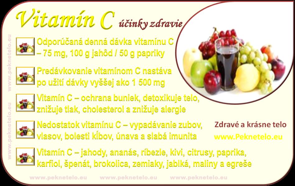 Vitamín C - info obrázok