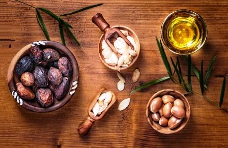 argánové semená a argánový olej
