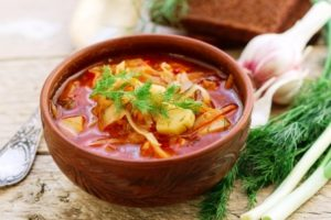 boršč ukrajinská polievka