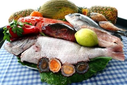 cerstve ryby s ovocim
