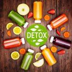 detoxikacia - ovocie a zelenina ilustracia
