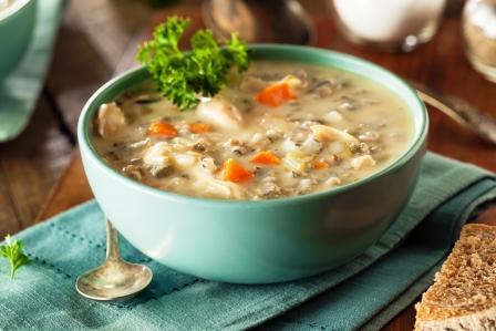divoká ryža recept polievka
