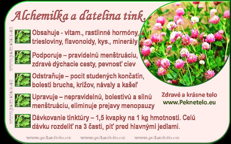info alchemilka, datelina tinktura