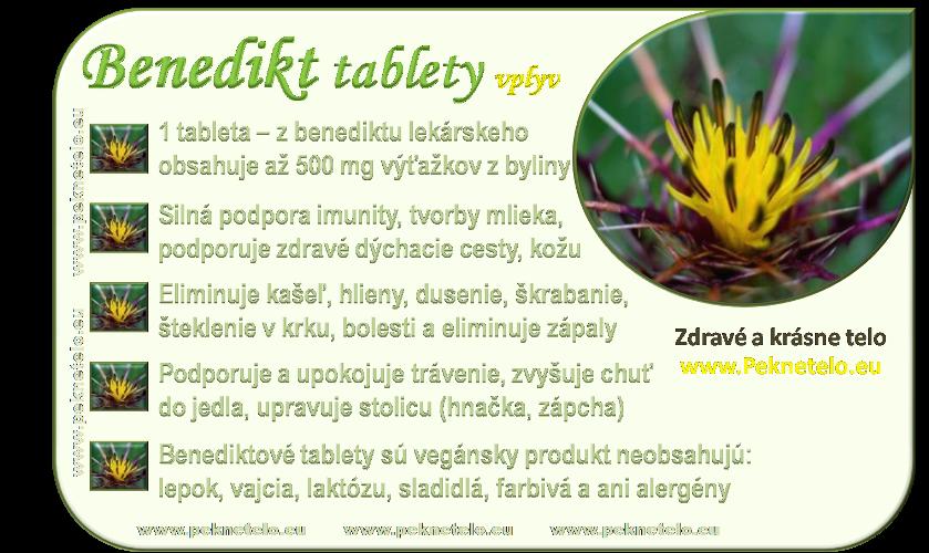 info benediktove tablety sk