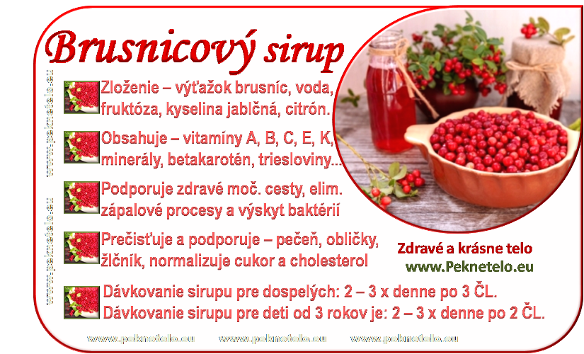 info brusnicovy sirup sk