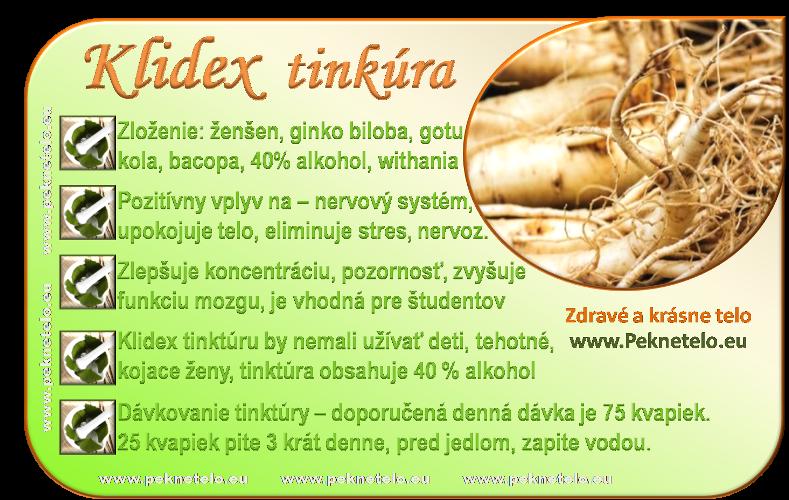 info klidex tinktura
