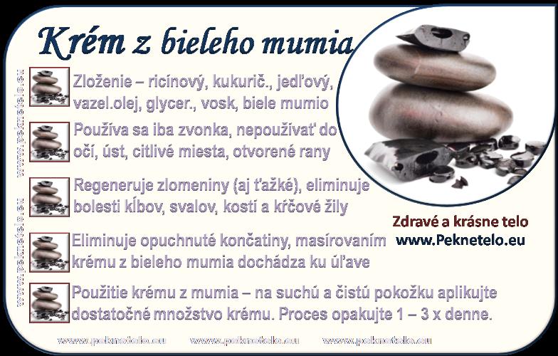 info krem z bieleho mumia