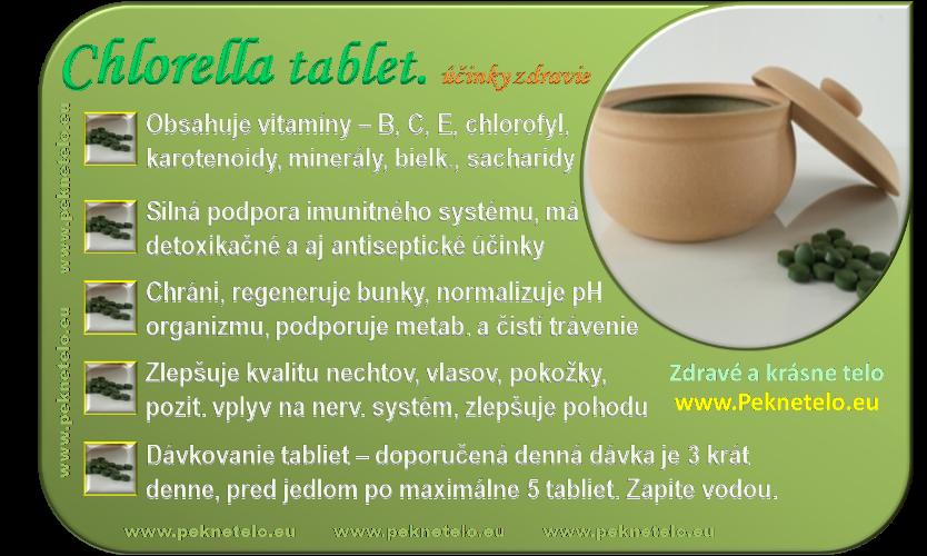 info obrazok chlorella tablety