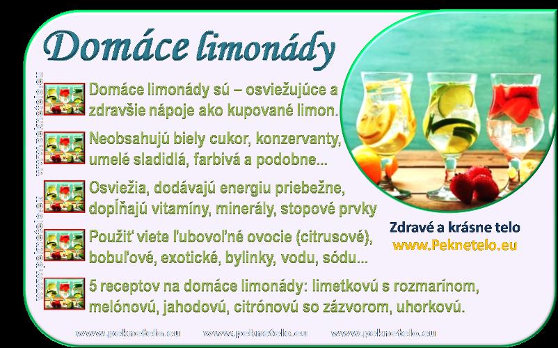 info obrazok domace limonady