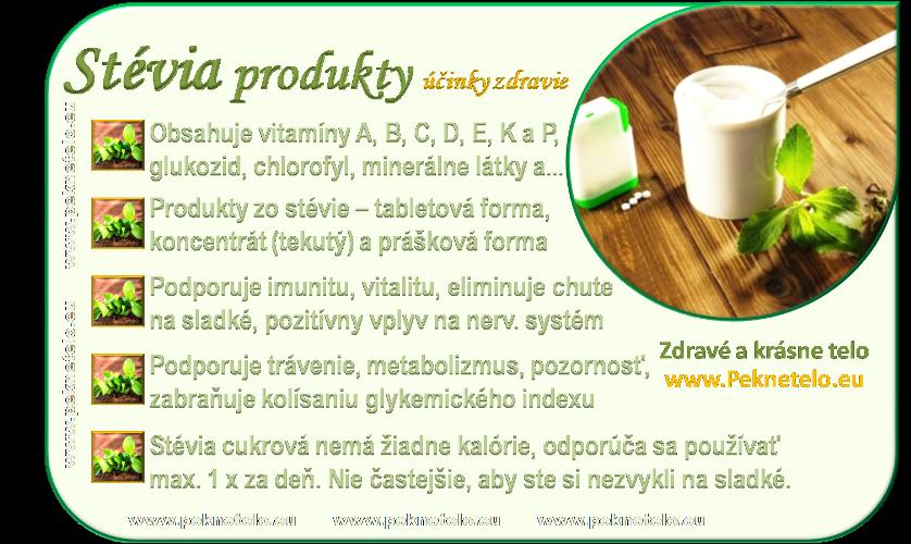 info obrazok stevia produkty