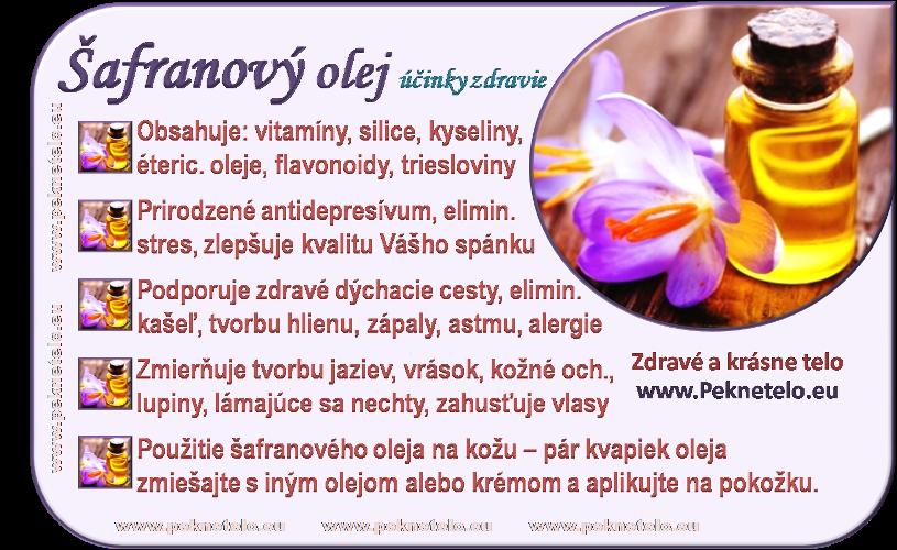 info safranovy olej