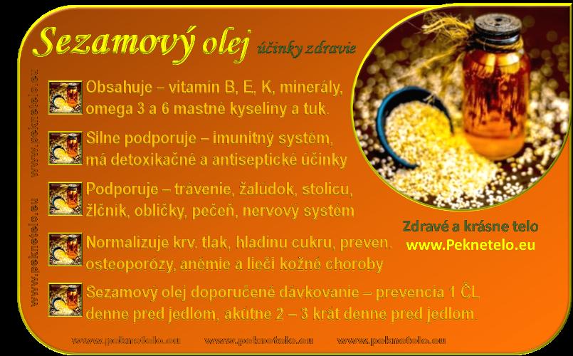 info sezamovy olej sk