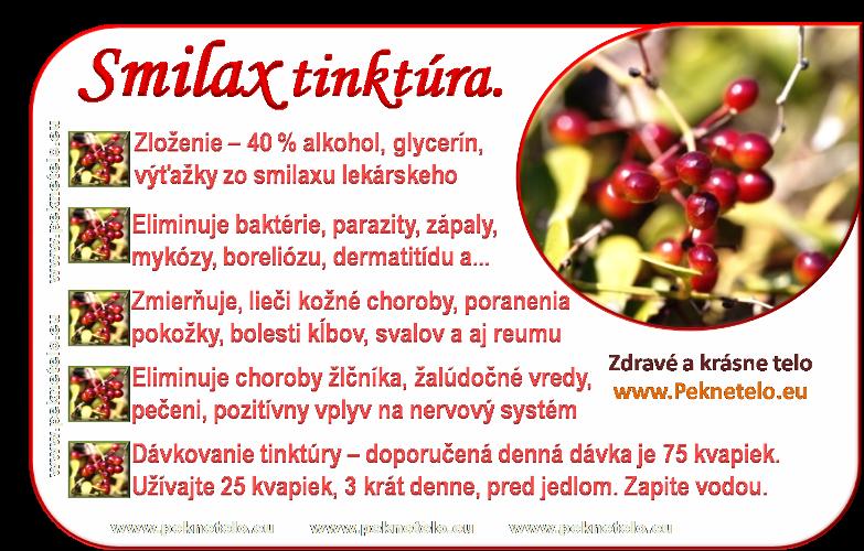 info smilax tinktura