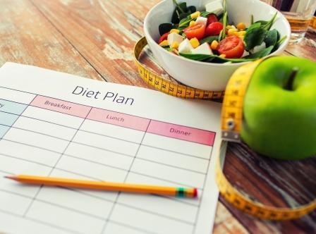 jedálniček na chudnutie - plán