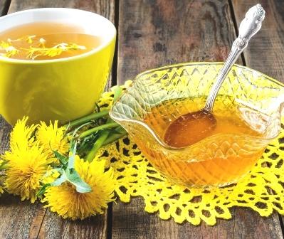 púpavový med, púpava a čaj
