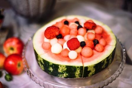 melon, ovocny salat