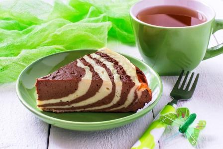 mramorový fit tvarohový dort