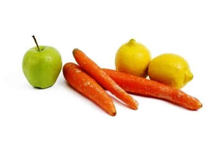 mrkva, citron, jablko