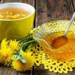 púpava lekárska, púpavový čaj a med