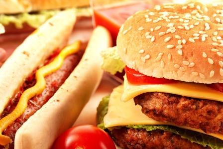 rýchle občerstvenie, hamburger,hotdog