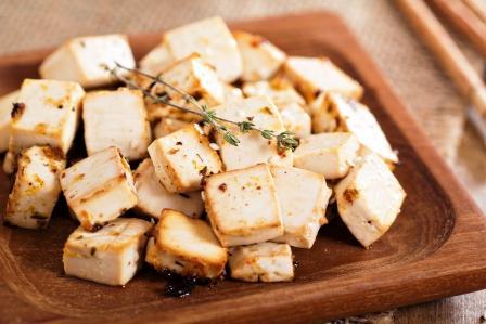 pečené tofu na taniery