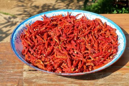 turecké chilli na taniery