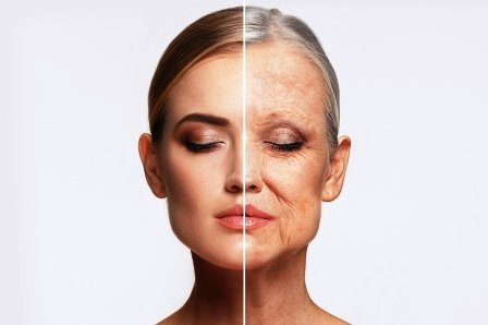 tvar zeny-proces starnutia a omladzovania
