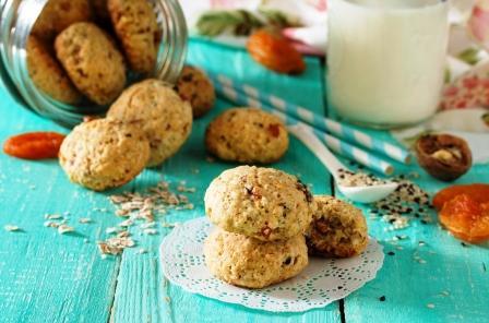 zdravé sušienky s ovsených vočiek a semienkok