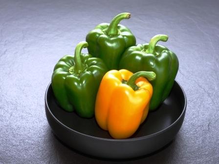 zelena a zluta paprika