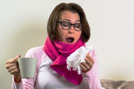 zena je chora