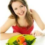 zena - zdravá výživa, strava na tanieri